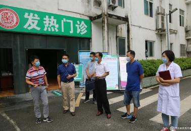 市卫生健康局到德江县民族中医院督导爱国卫生运动工作